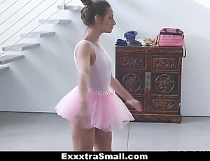 Exxxtrasmall - tiny leading actress fucks say no to instructor!