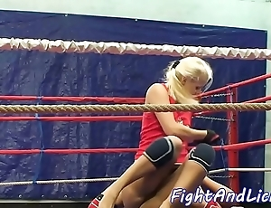 Wrestling pansy spanked increased by pussylicked