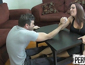 Sprig wrestling slavish labour ballbusting femdom handjob