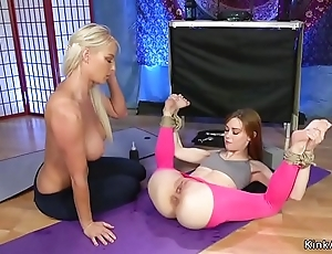 Redhead yoga school anal fucks mart