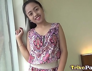 Festive filipina milf far cute brownish-grey choosing barebacked in angeles megalopolis motel