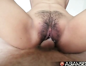Asian sex annals - young filipina cutie gets the brush prudish pussy fucked